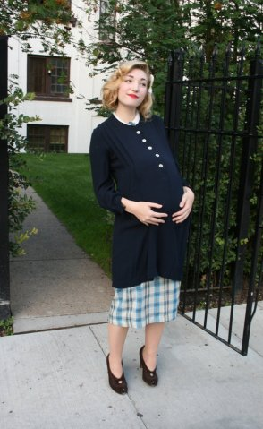1940s maternity top