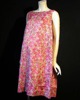 Pink rose maternity dress