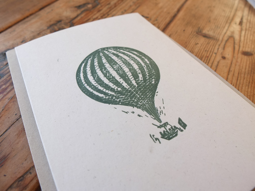 Letterpress balloon