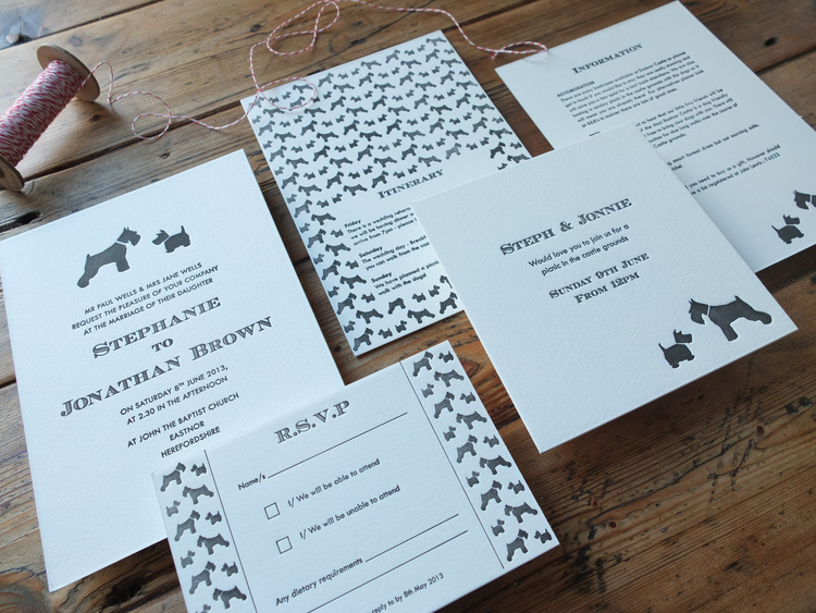 Dog Wedding Invitations: Wolves In London