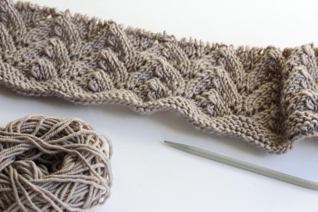 Knitted blanket beginnings