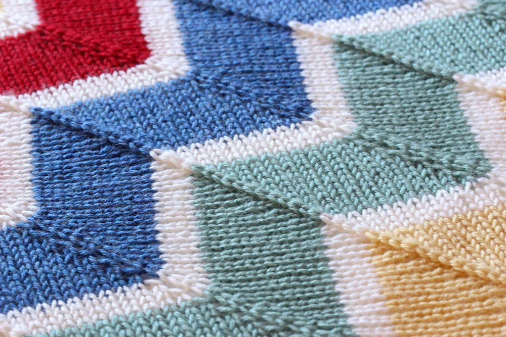 Knitting Stitches Chevron : Rainbow chevron baby blanket Wolves in London