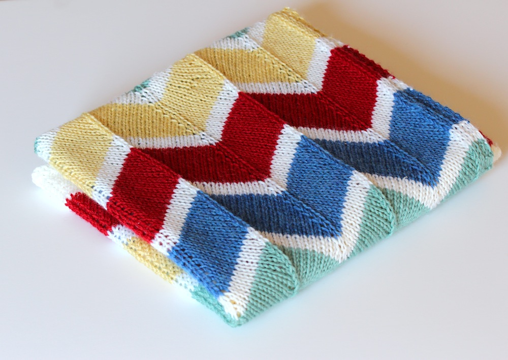 Knitting Pattern For Rainbow Blanket : Rainbow chevron baby blanket Wolves in London