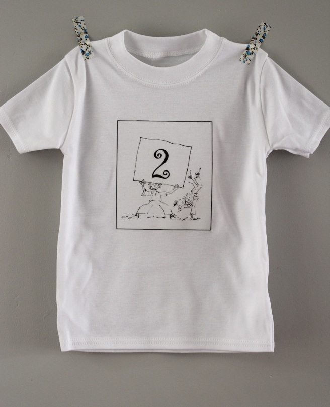 Homemade 2nd birthday t-shirt | Wolves in London