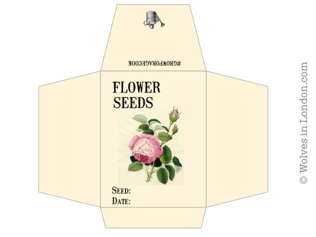 Grow Forage Cook Saving Seeds And Free Seed Envelope Template Wolves In London