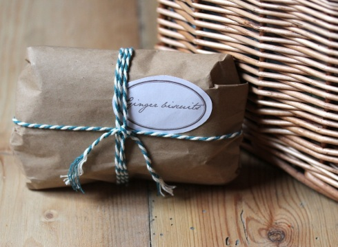 Homemade ginger biscuits in a Christmas hamper | Wolves in London