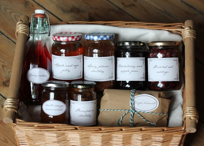 Homemade Christmas hamper from Wolves in London