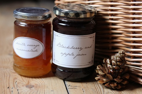 Homemade jams in a Christmas hamper | Wolves in London