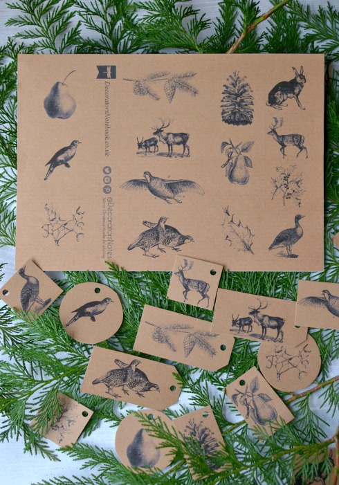 Gift tags from Decorator's Notebook
