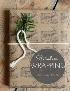 Three free Christmas wrapping paper downloads, including these reindeer | Wolves in London