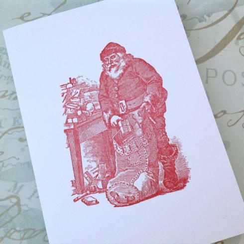 Rococo Rose Christmas card