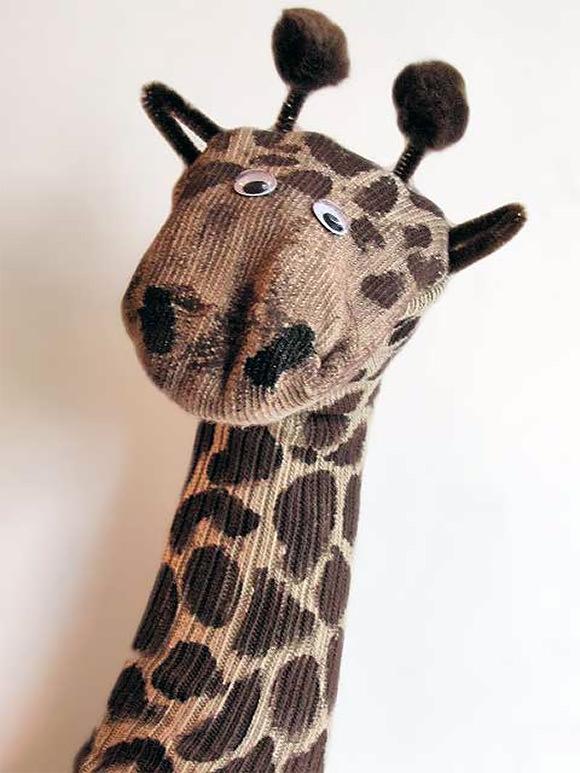 Sock puppet giraffe