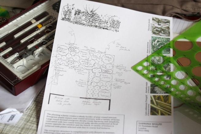 Garden design planting plan
