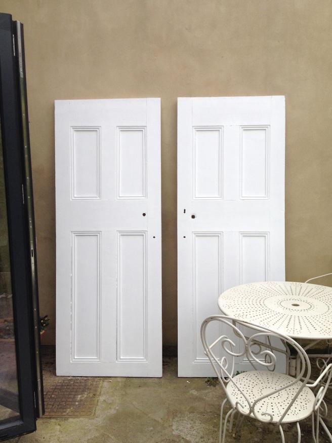 Doors being painted