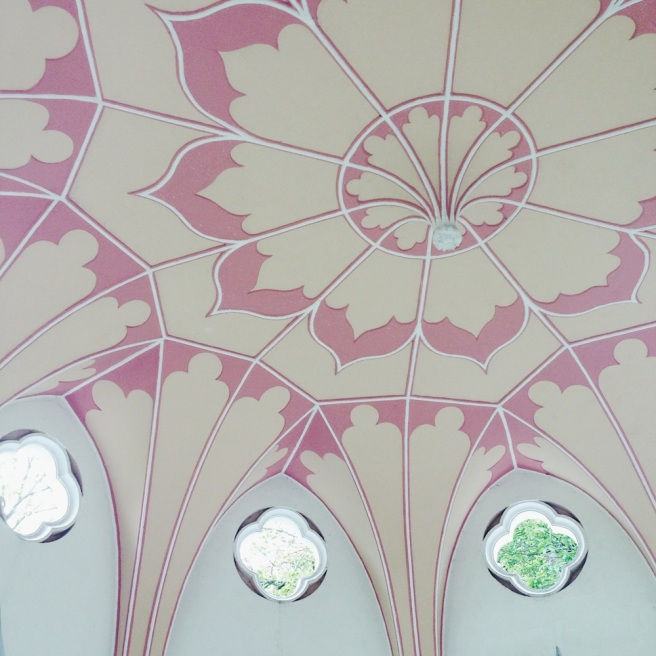 Gothic temple ceiling at Painshill Park