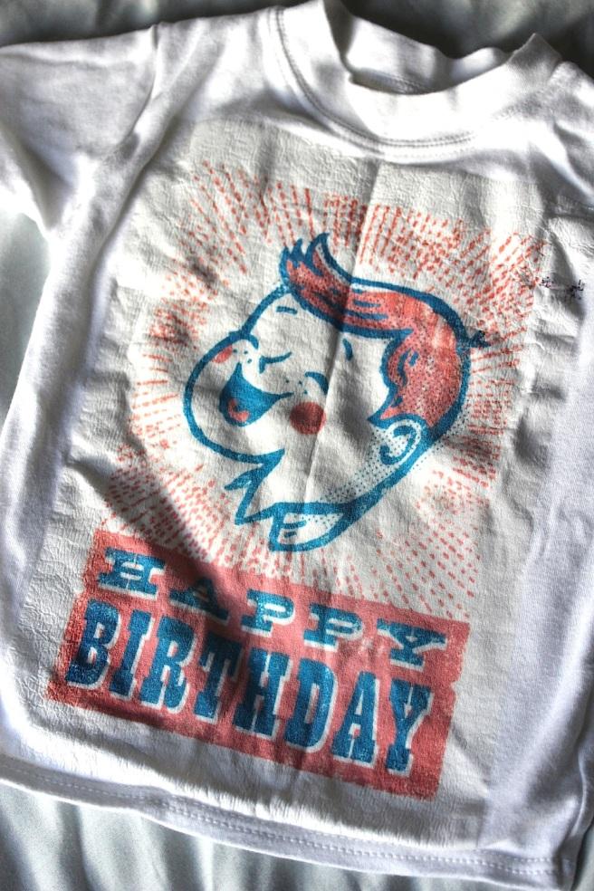 Homemade birthday t-shirt
