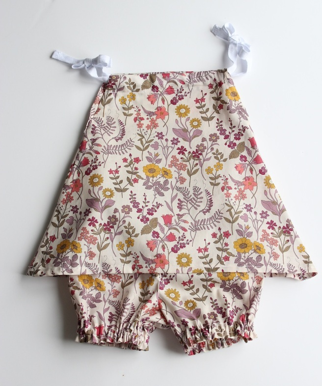 Homemade baby present, Liberty print dress and bloomers | Wolves in London