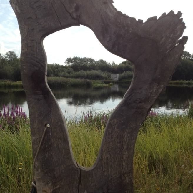 Wood sculpture at London Wetland Centre