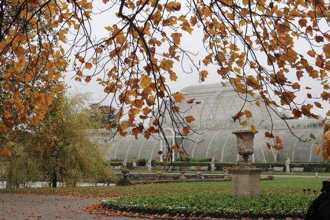Kew palmhouse in Autumn