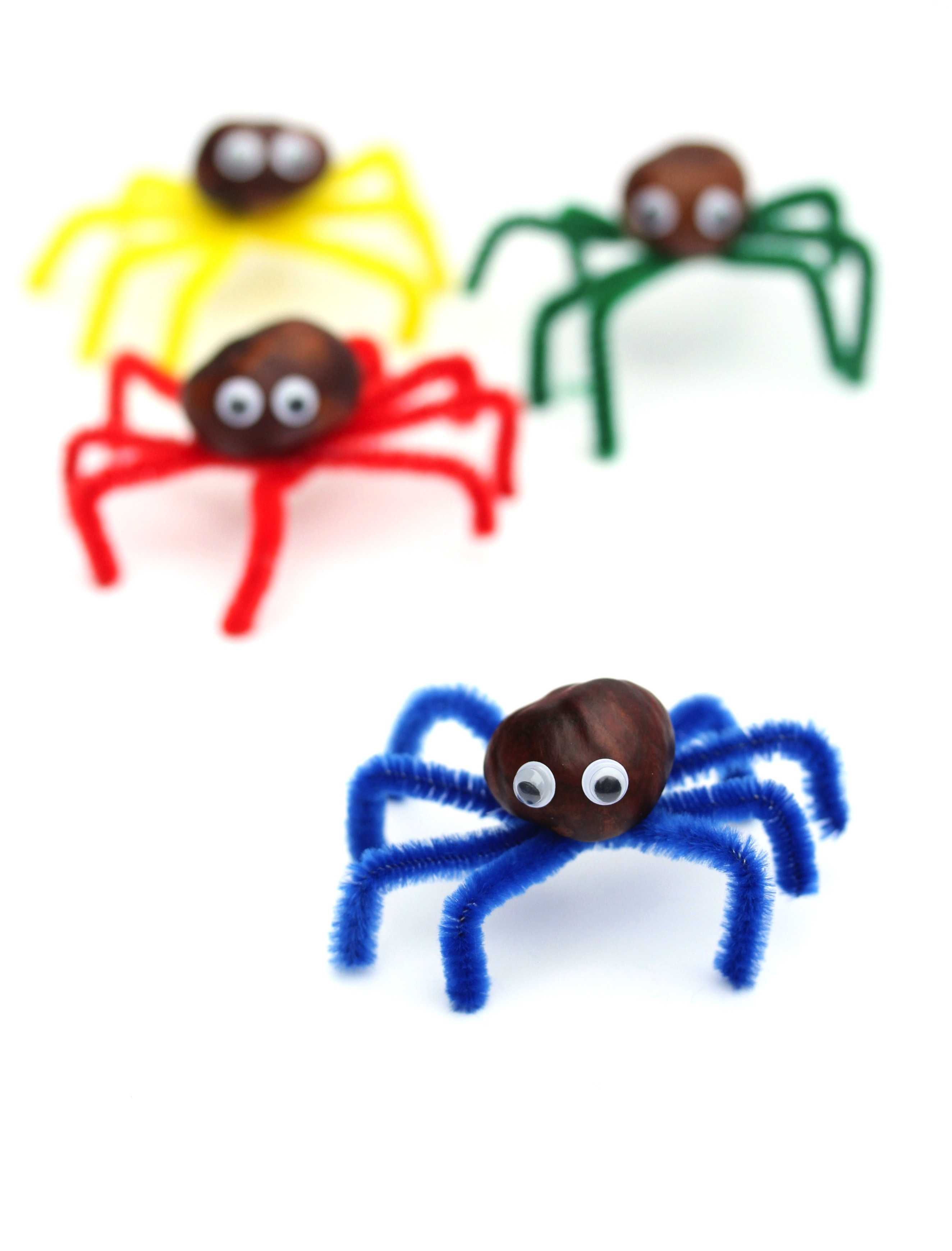 kids craft no glue conker spiders wolves in london