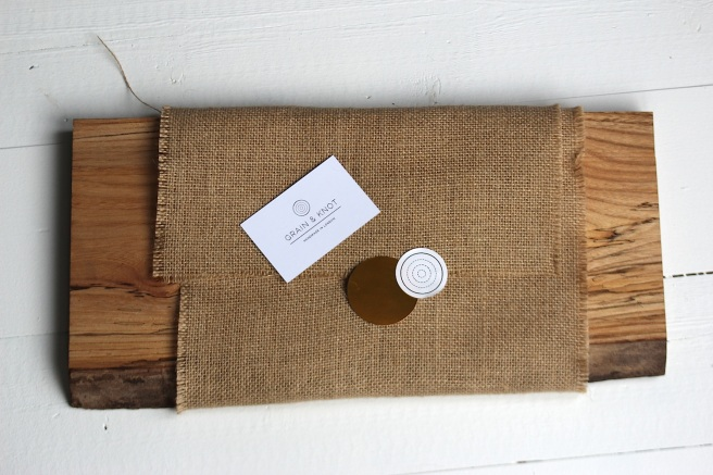 Grain and Knot chopping board