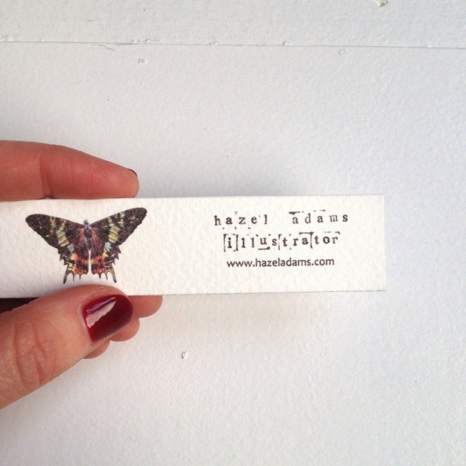 Hazel Adams business card
