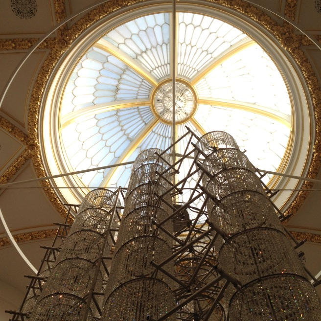 Bicycle chandelier by Ai Weiwei at the RA, London