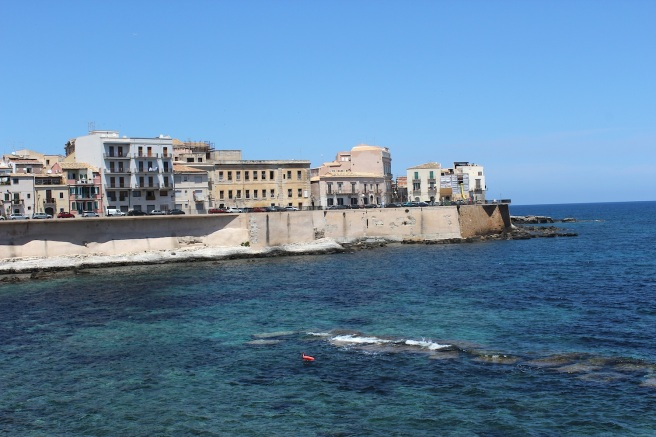 The island of Ortygia in Siracusa