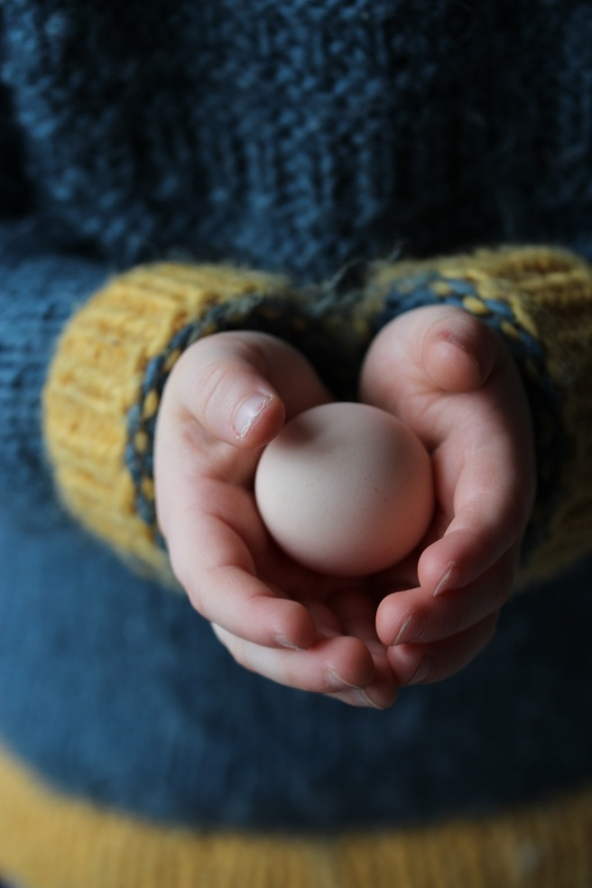 Egg from pekin bantam