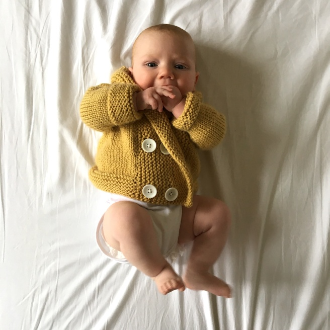 Hand knit baby jumper