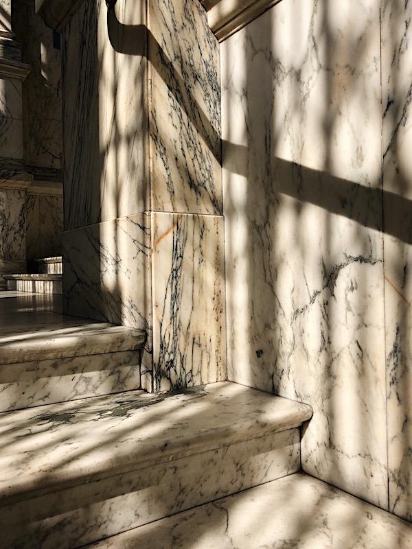 Sunlight on marble