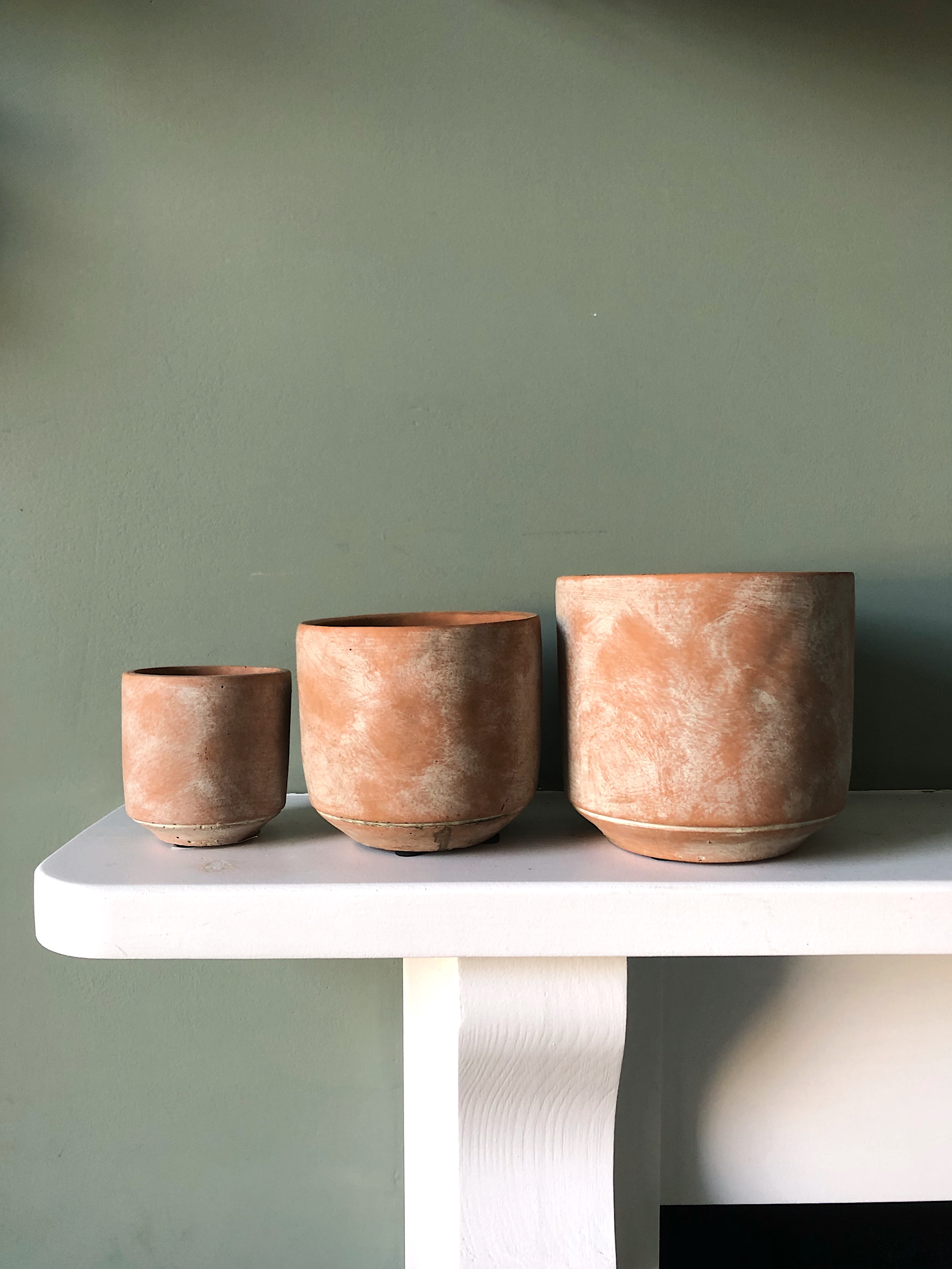 Three ceramic Saar pots